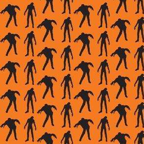 Sillouette of the Walking Dead Orange