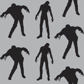 Large Silhouette of the Living Dead-grey