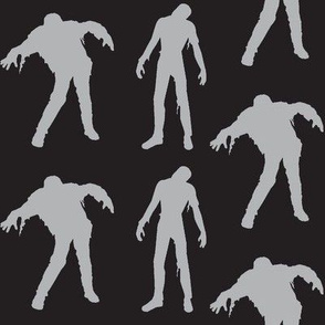 Large Silhouette of the Living Dead- black and grey
