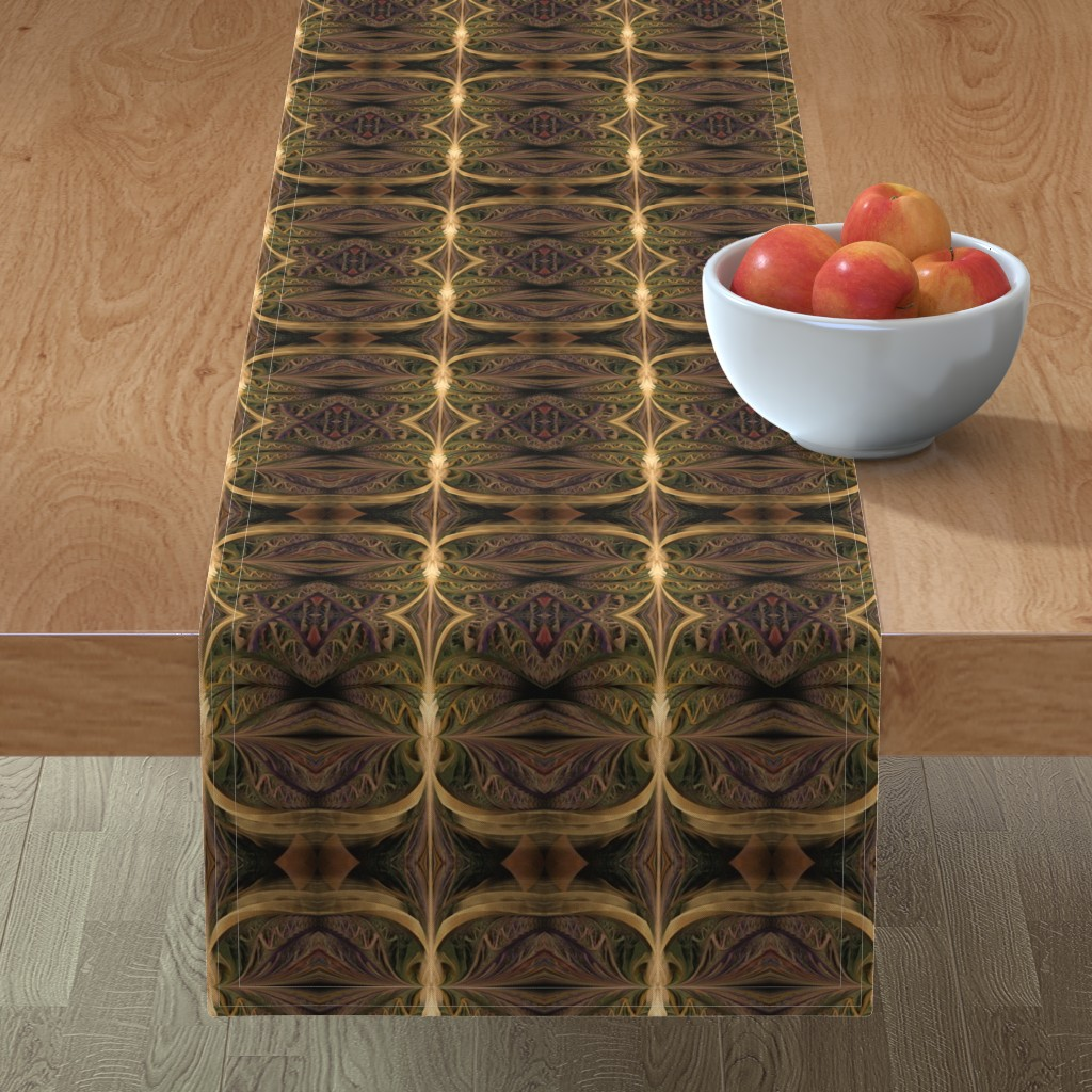 Minorca Table Runner featuring jungle tiki by winter