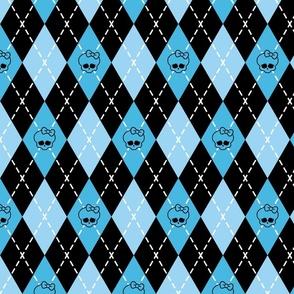 Monster High - Blue rhombus (argyle)