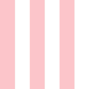 Stripes - White and Light Baby Pink Nautical Resizable Stripe