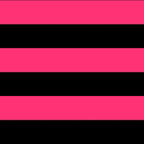 Stripes - Black and Hot Pink Bands