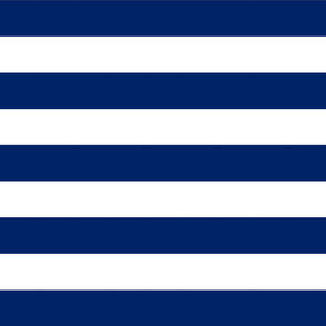 Stripes - Navy Blue   White Nautical (2 inch)