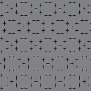 Black star in grey