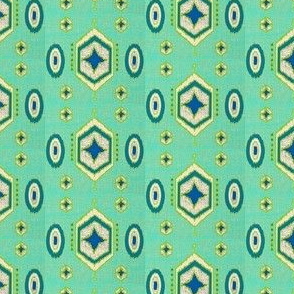 Hexagon Ikat SMALL with nubby texture