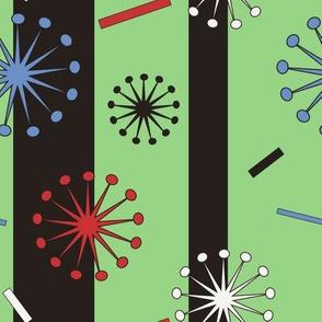 Retro Confetti Bursts