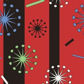 Retro Confetti Bursts (Red)