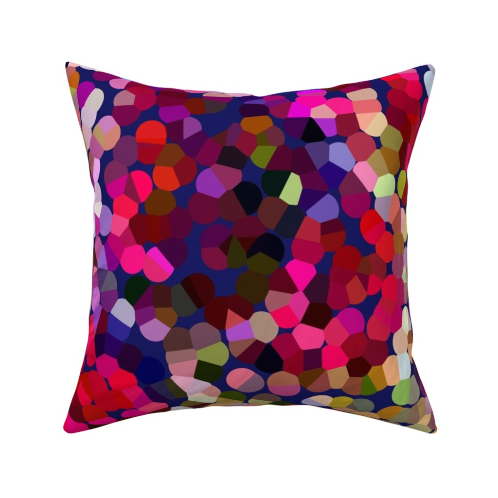 Catalan Throw Pillow featuring New Year's Eve Confetti (Large) by theartwerks
