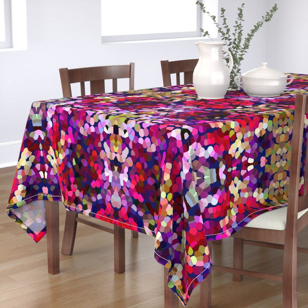 Bantam Rectangular Tablecloth featuring New Year's Eve Confetti (Large) by theartwerks