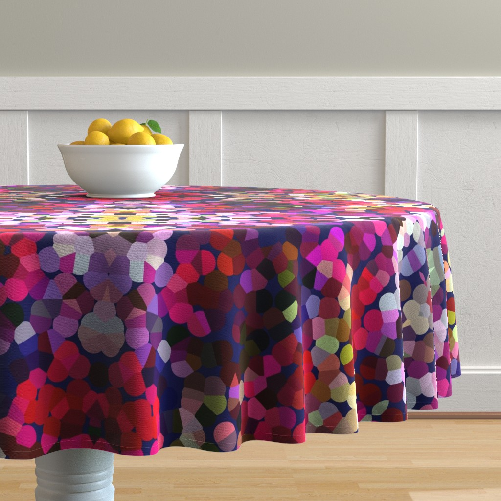 Malay Round Tablecloth featuring New Year's Eve Confetti (Large) by theartwerks