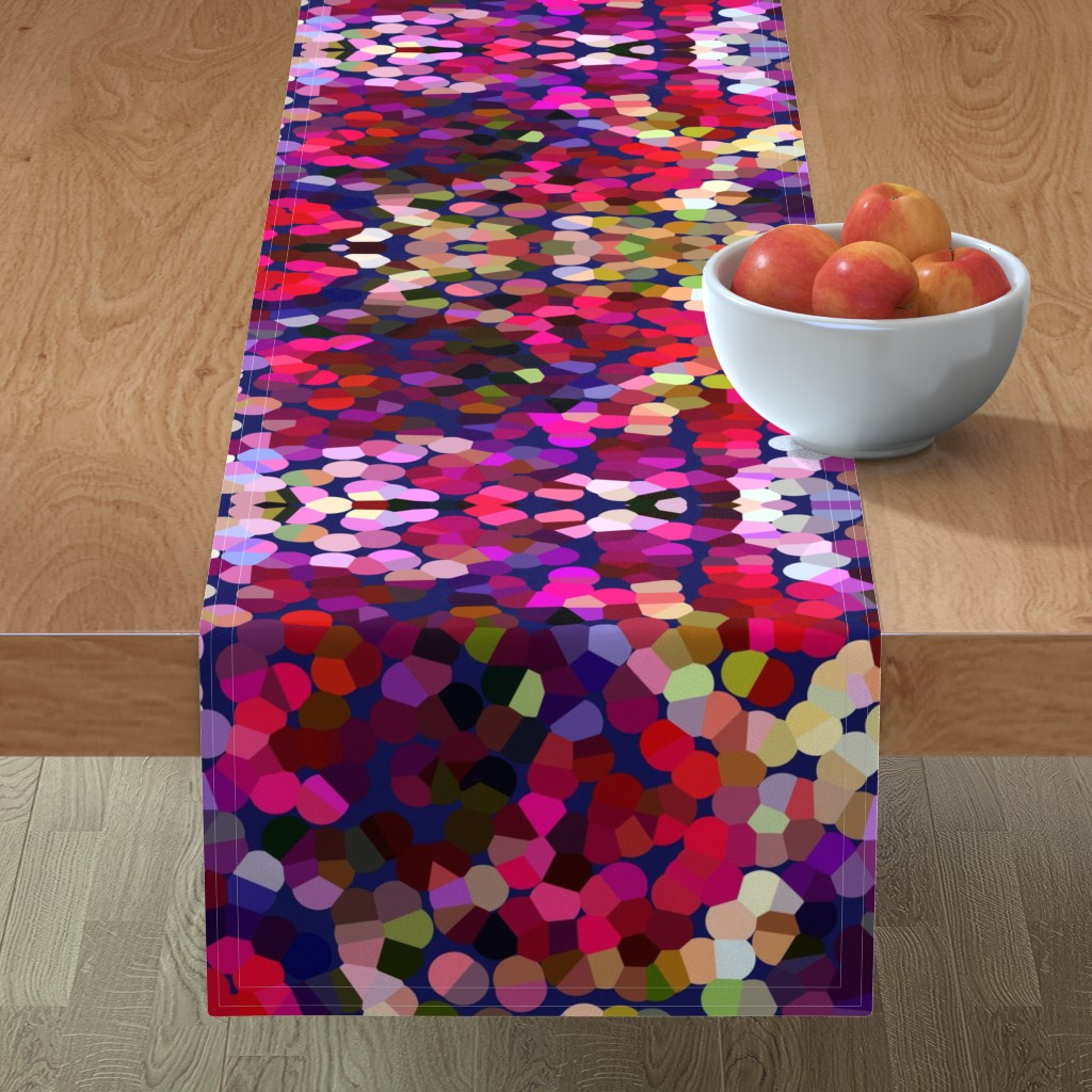 Minorca Table Runner featuring New Year's Eve Confetti (Large) by theartwerks