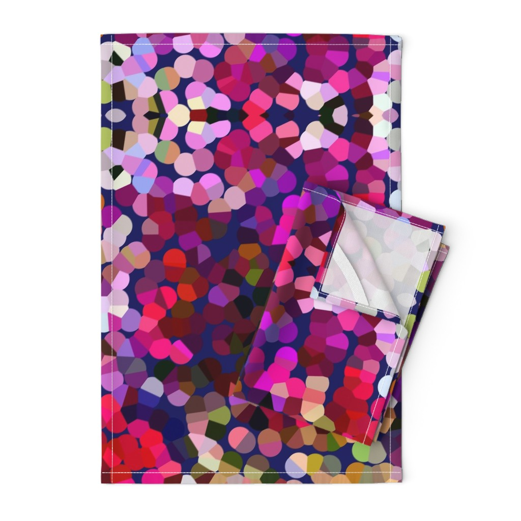 Orpington Tea Towels featuring New Year's Eve Confetti (Large) by theartwerks