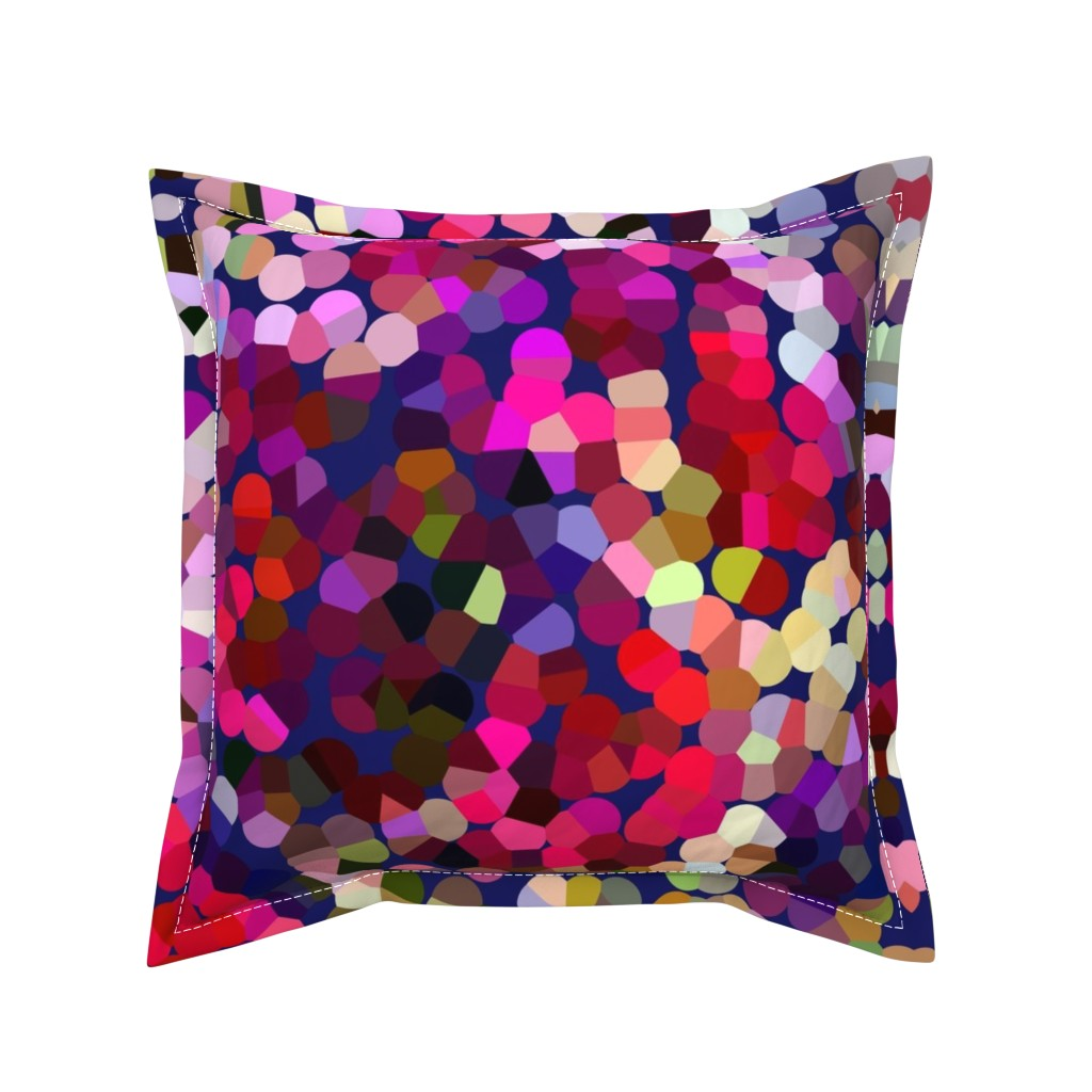 Serama Throw Pillow featuring New Year's Eve Confetti (Large) by theartwerks