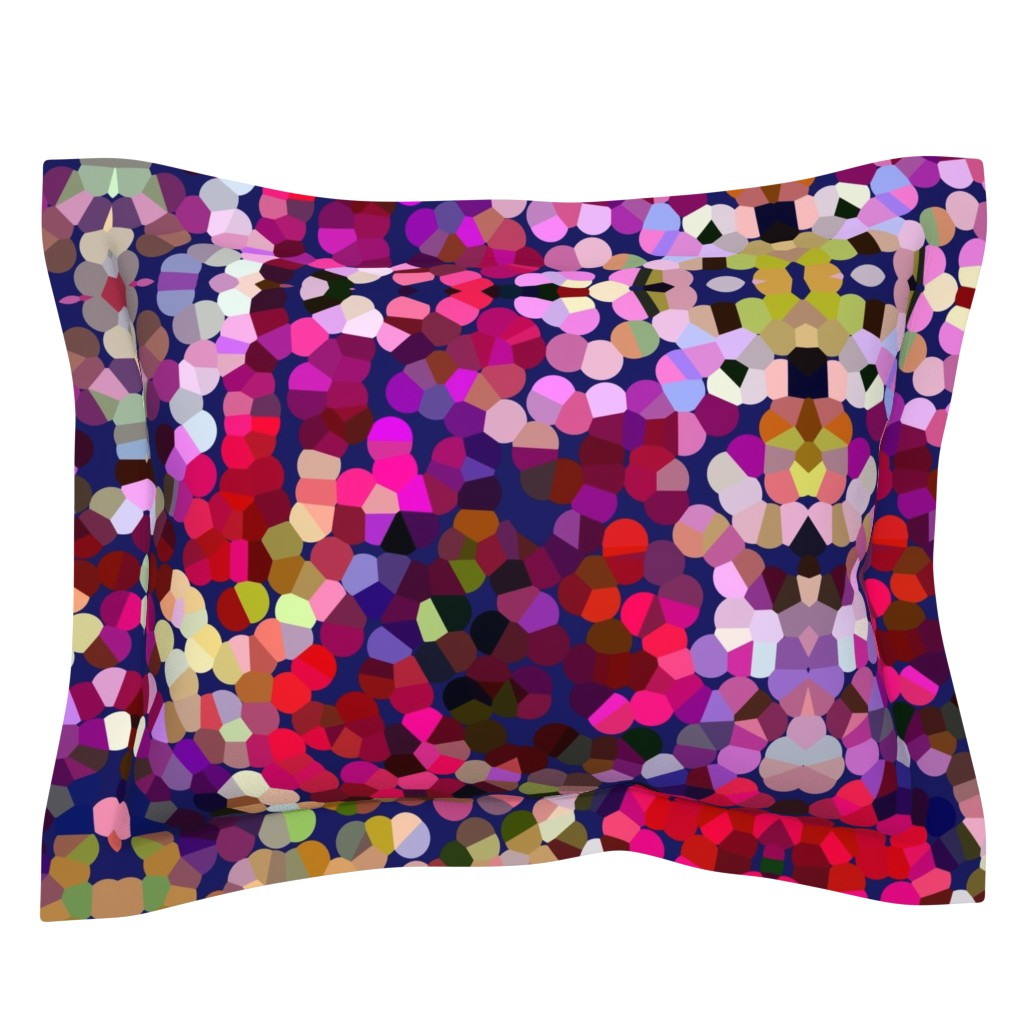Sebright Pillow Sham featuring New Year's Eve Confetti (Large) by theartwerks