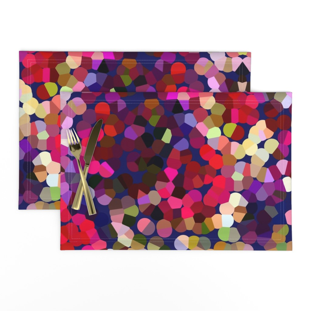 Lamona Cloth Placemats featuring New Year's Eve Confetti (Large) by theartwerks