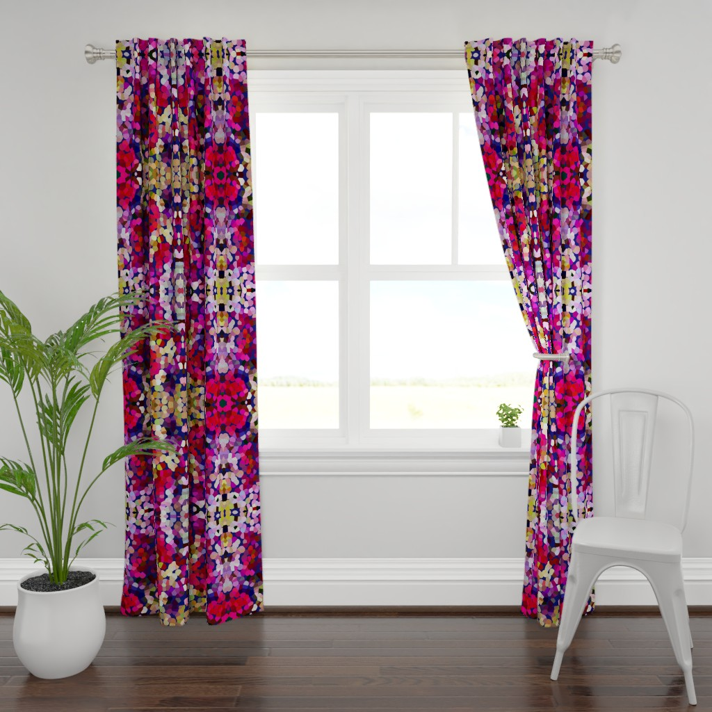 Plymouth Curtain Panel featuring New Year's Eve Confetti (Large) by theartwerks