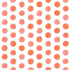 Watercolor Dots: Coral