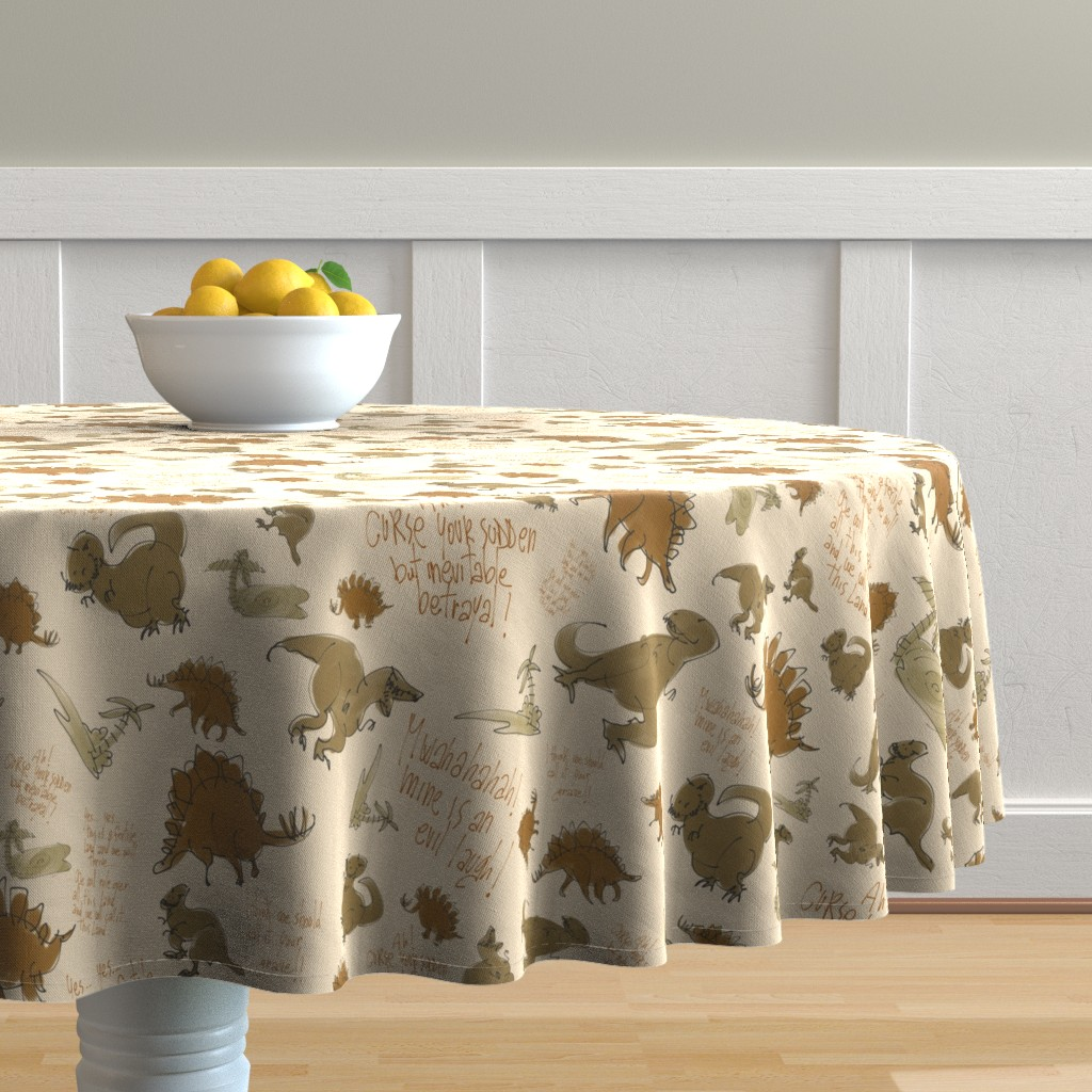 Malay Round Tablecloth featuring Curse your sudden.... by aliceelettrica
