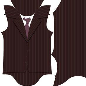 pinstripe suit 3-6 month baby bodysuit