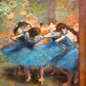 Degas Blue Ballerinas