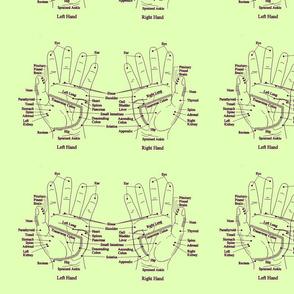 Vintage Green Hand Reflexology