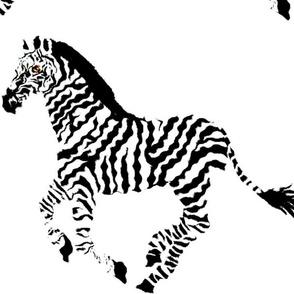 "My Stripes ""Think Medical Zebra"" Pillow Panel"