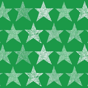 abstract_stars_green_white