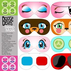 Fun face sleep masks