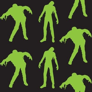 Large Silhouette of the Living Dead-black and green