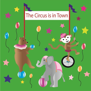 Big Top Circus Green Decals