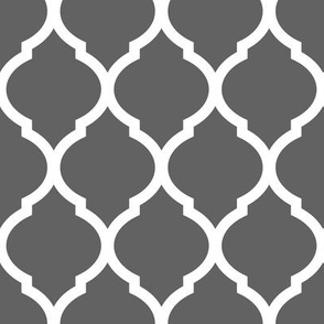 Charcoal Moroccan Lattice