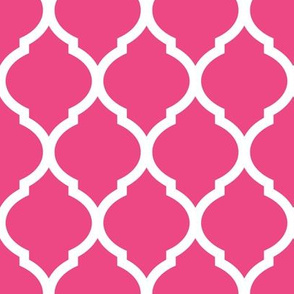 Hot Pink Moroccan Lattice
