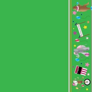 Big Top Circus Border in Green