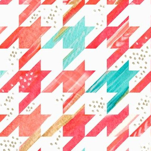 Watercolor Houndstooth