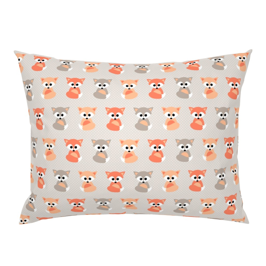 Campine Pillow Sham featuring Baby foxes by heleenvanbuul