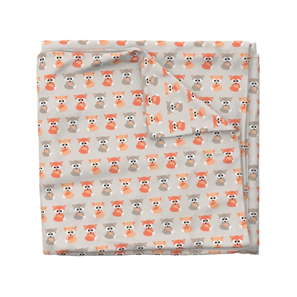 Wyandotte Duvet Cover featuring Baby foxes by heleenvanbuul