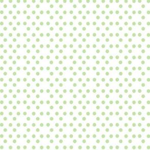 Spring green dots
