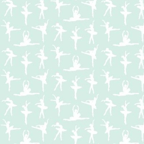 Ballerina Fabric Mint Green - Small