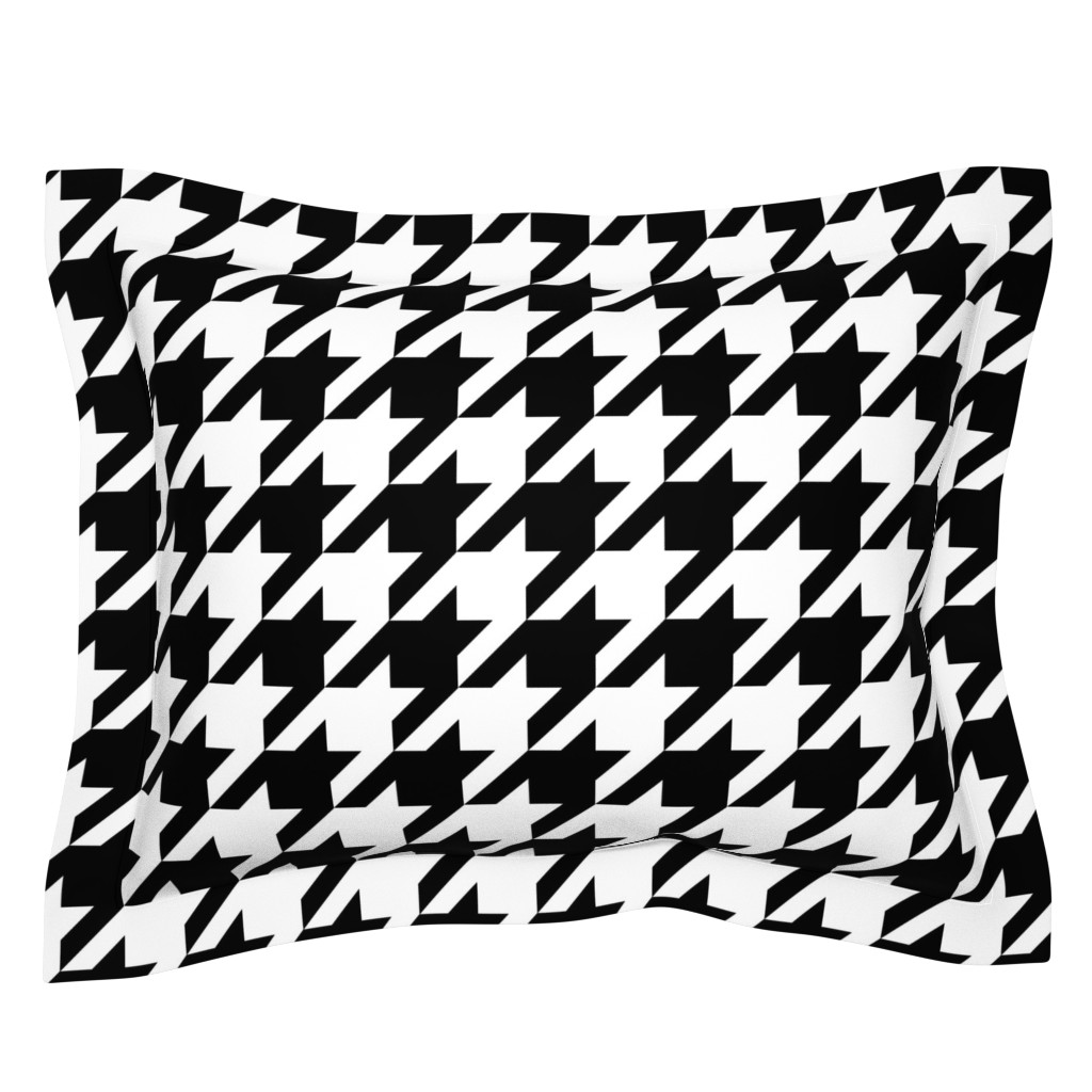 Sebright Pillow Sham featuring Houndstooth Check // Black & White ((Medium)) by theartwerks