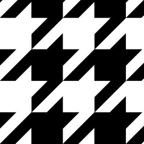 Houndstooth Check // Black & White ((Medium))