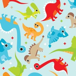 Cute dancing dino fun colorful dinosaur design for boys