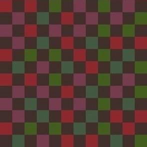 autumn rainbow checkerboard