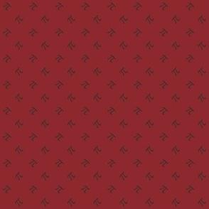pi diamonds - autumn red