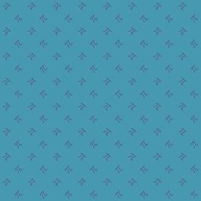 pi diamonds - sea blue