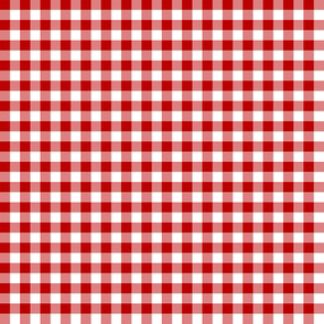 deep red gingham
