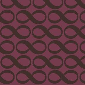 extra large infinity - autumn plum