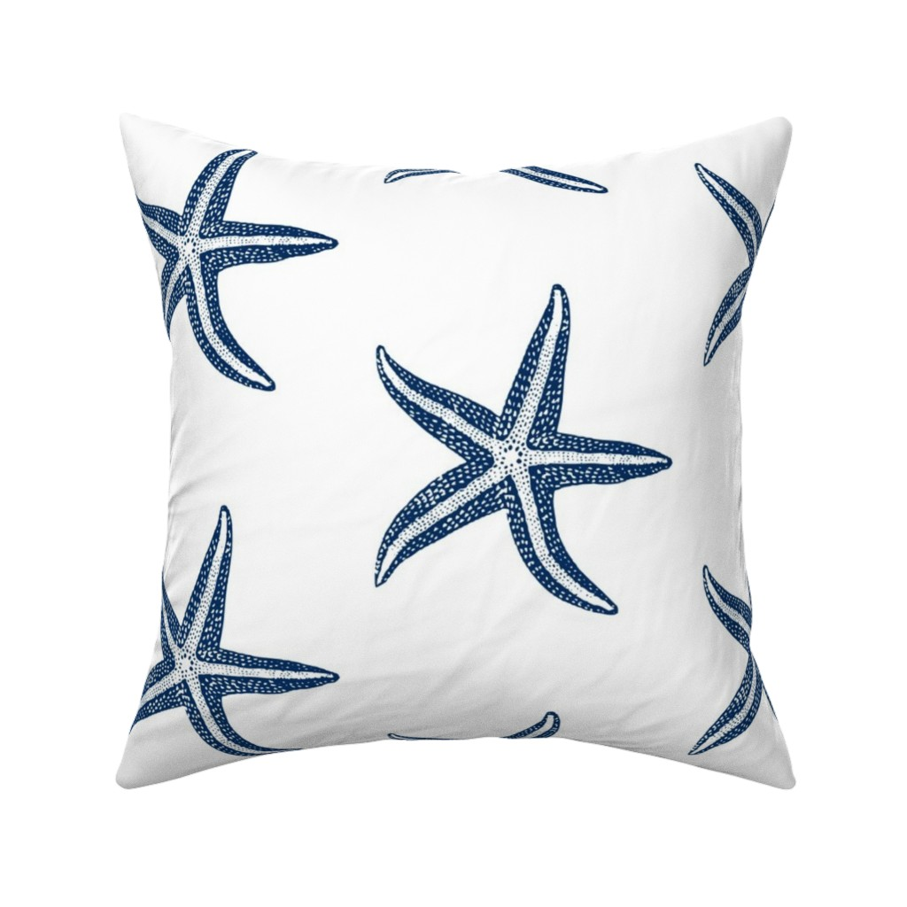 Catalan Throw Pillow featuring I wish upon a Starfish Blue by lisakling