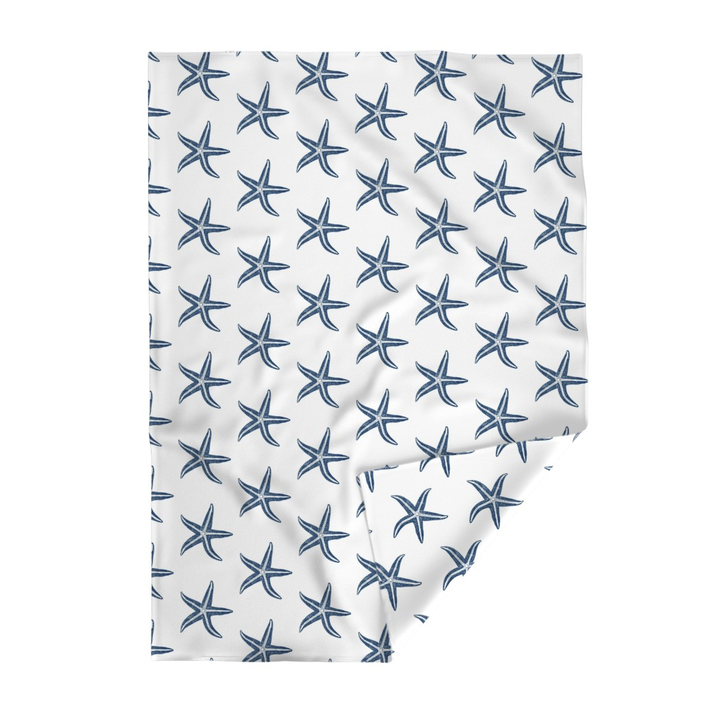 Lakenvelder Throw Blanket featuring I wish upon a Starfish Blue by lisakling