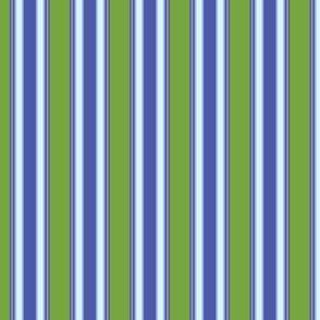 Morning glory Stripe in Green